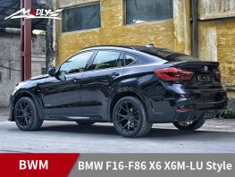 2015-2017 BMW F16-F86 X6 X6M-LU Style body kits With Middle Four Hole Exhaust Tips Rear bumper