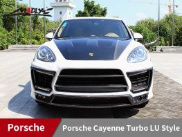 2011-2014 Porsche Cayenne Turbo LU Style With Double Three Hole Exhaust Tips Front Bumper