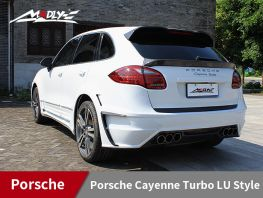 2011-2014 Porsche Cayenne Turbo LU Style With Double Three Hole Exhaust Tips Rear Bumper