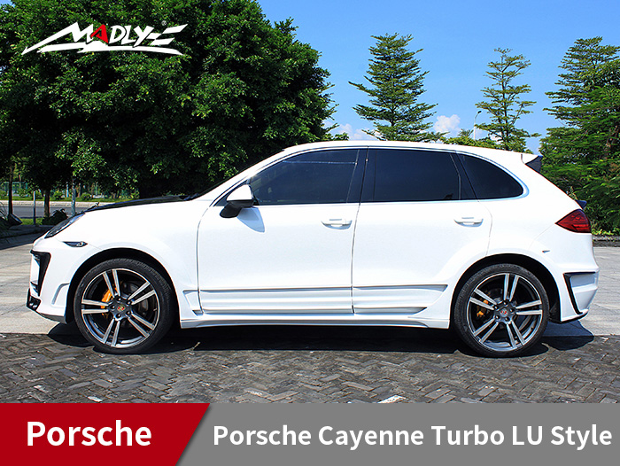 2011-2014 Porsche Cayenne Turbo LU Style With Double Three Hole Exhaust Tips Fenders