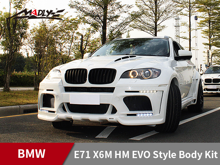 2008-2014 BMW E71 X6/X6M HM EVO-M style body kit With Middle Flat Exhaust Tips