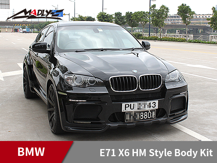 2008-2014 BMW E71 X6 HM Style Body Kits With Middle Round Exhaust Tips