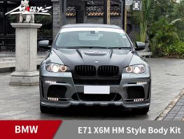 2008-2014 BMW E71 X6M HM Style Body Kits With Middle Round Exhaust Tips Front Bumper
