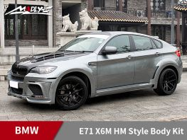 2008-2014 BMW E71 X6M HM Style Body Kits With Middle Round Exhaust Tips Fenders