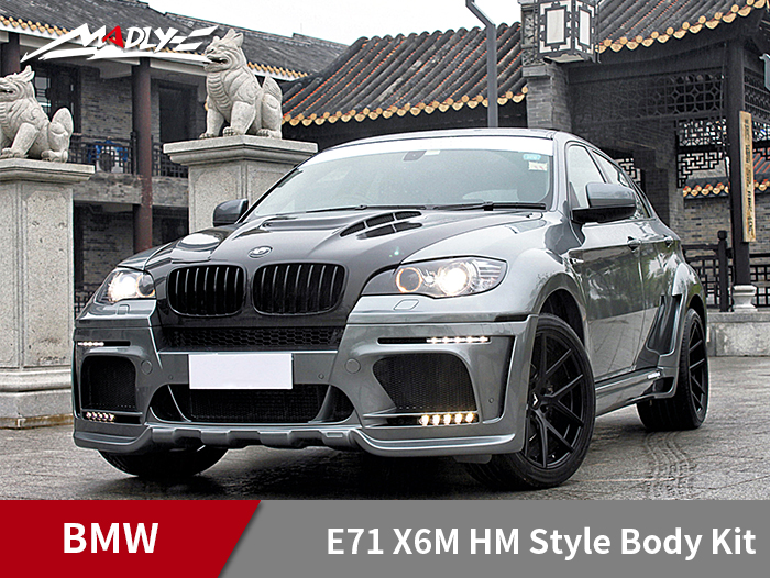 2008-2014 BMW E71 X6M HM Style Body Kits With Middle Round Exhaust Tips