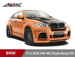 2008-2014 BMW E71 X6M HM-M2 Style Body Kits With Middle Square Exhaust Tips