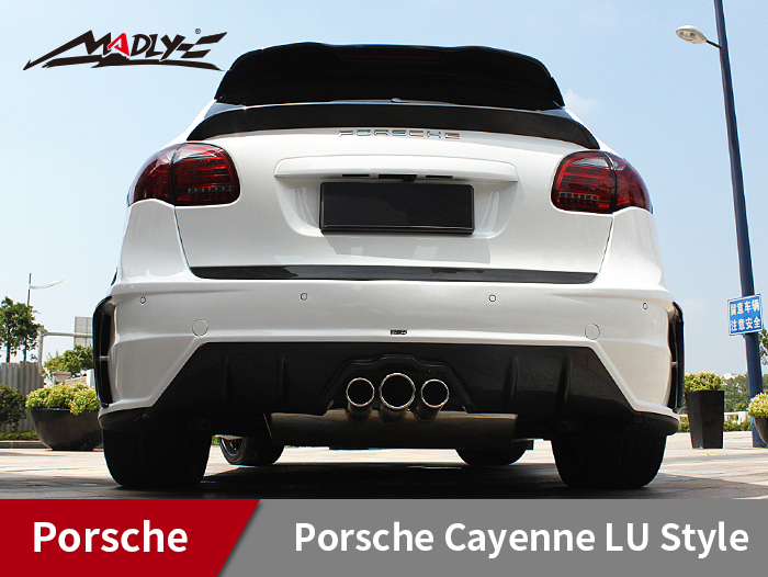 2011-2014 Porsche Cayenne LU Style With Middle Three Hole Exhaust Tips Rear Bumper