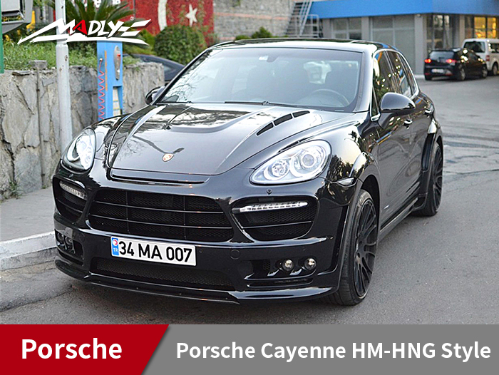 2011-2014 Porsche Cayenne HM-HNG Style Wide Body Kits With Middle Round Exhaust Tips