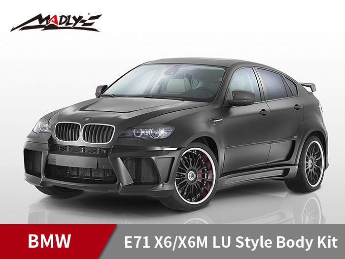 2008-2014 BMW E71 X6/X6M LU Style Body Kits With Double Two Hole Exhaust Tips