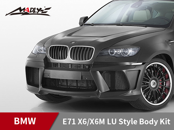 2008-2014 BMW E71 X6/X6M LU Style Body Kits With Double Two Hole Exhaust Tips Front Bumper