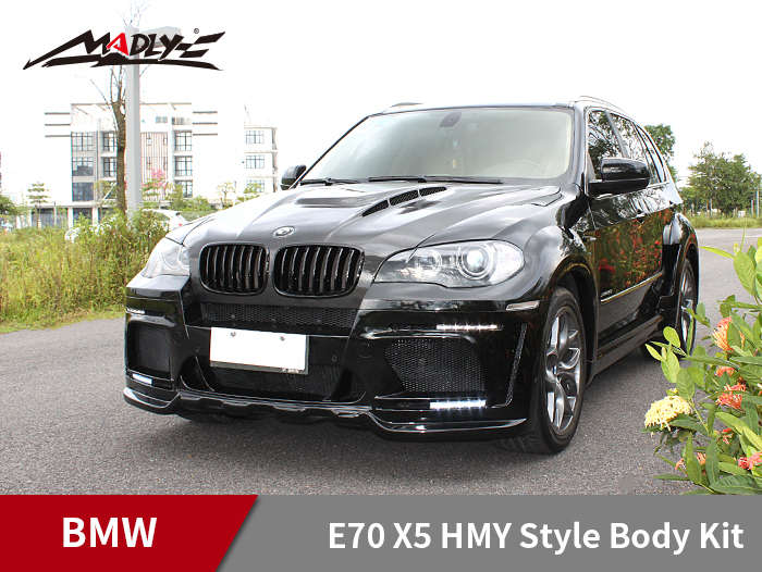 2011-2013 BMW X5 E70 HMY Style Wide Body Kits With Middle Round Exhaust Tips