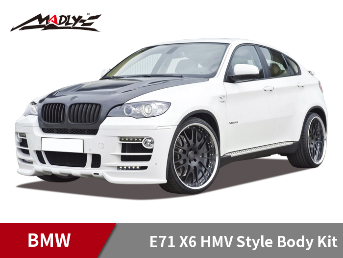 2011-2013 BMW X6 E71 HMV Style Body Kits With Double Two Hole Exhaust Tips